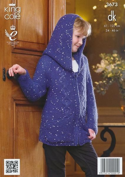 Hoodie and Sweater in King Cole Galaxy DK (3673) – Deramores Ireland