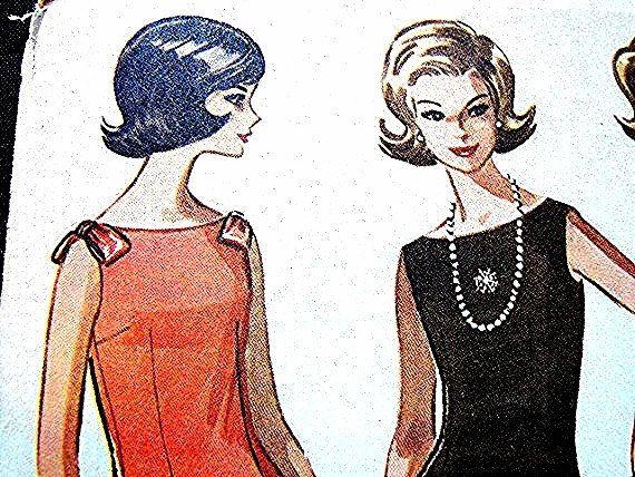 1960s Dress Pattern McCalls Misses Sleeveless Dress size  by PatternsFromThePast on Etsy