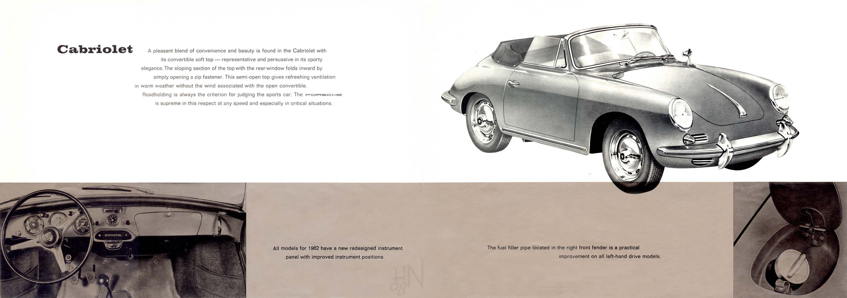 1962 Porsche 356B U.S. brochure pages 6 & 7