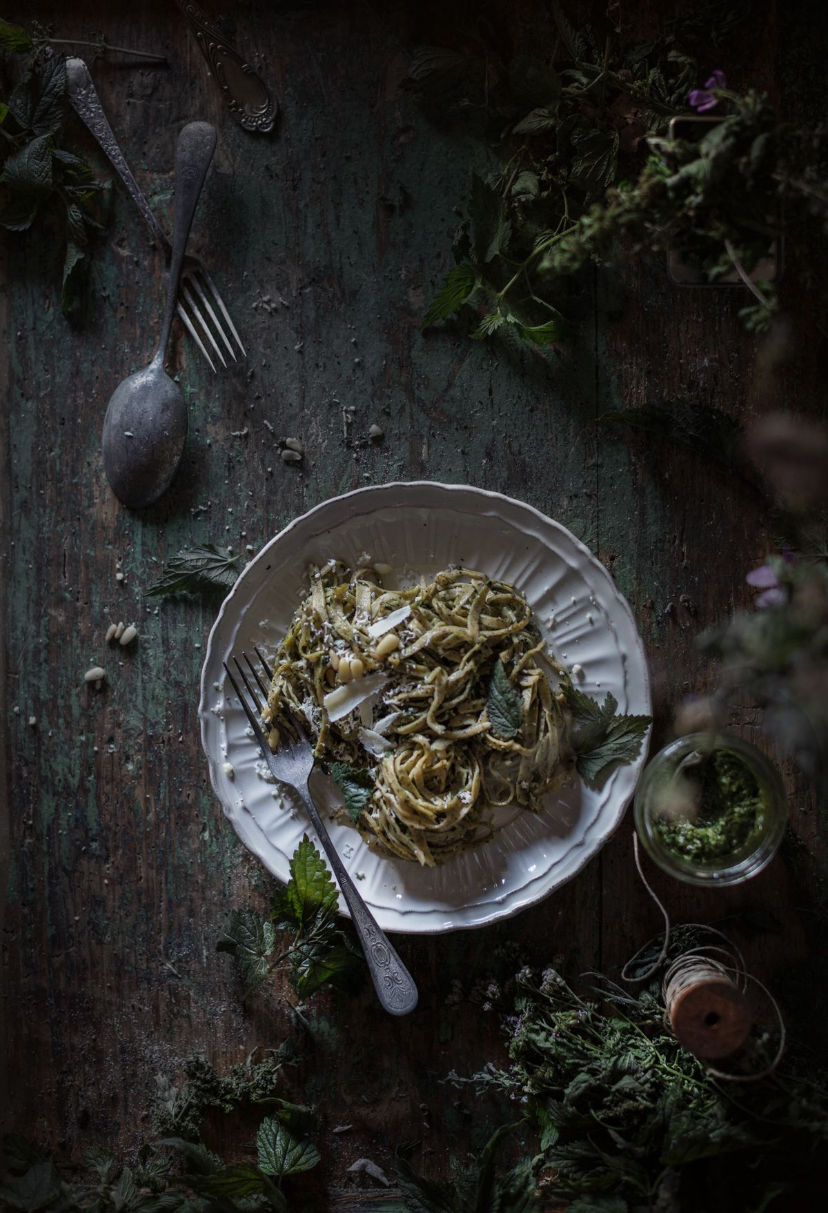 Buckwheat Pasta With Nettle Sauce The Green Jewels Of The