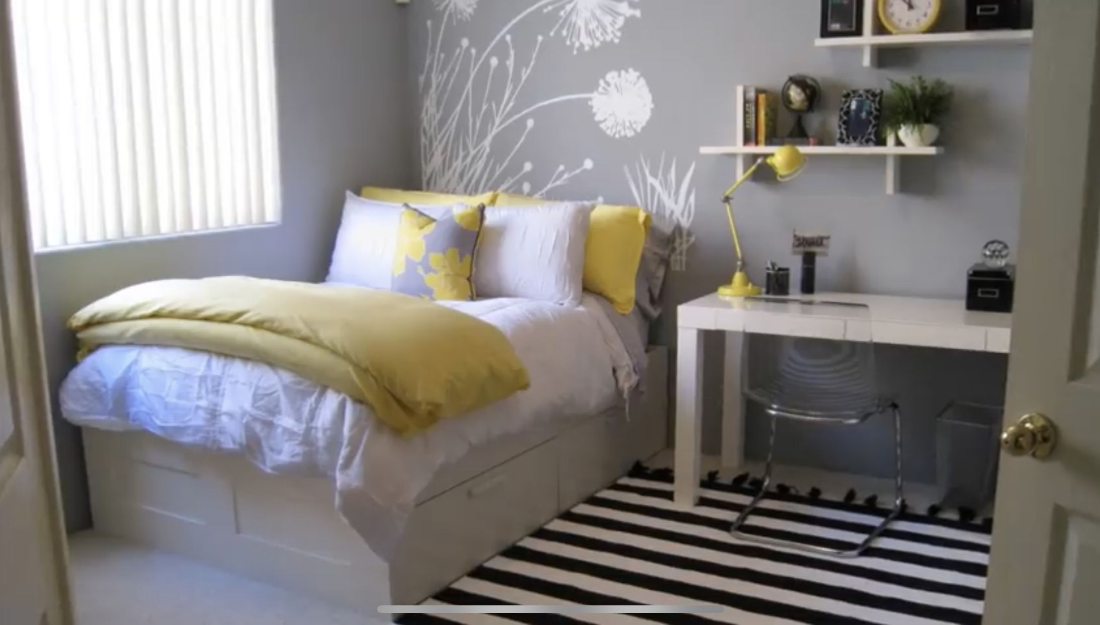 So Stinkin Cute Yellow Gray And Black Are My Fav Home Bedroom Home Home Decor