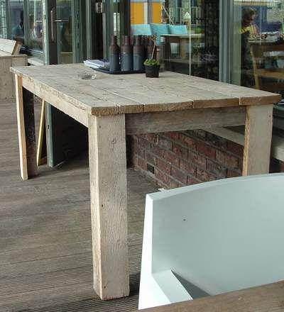Gartentisch holz selber bauen  gartentisch aus holz | Beachhouse | Pinterest | rustikale Bank ...