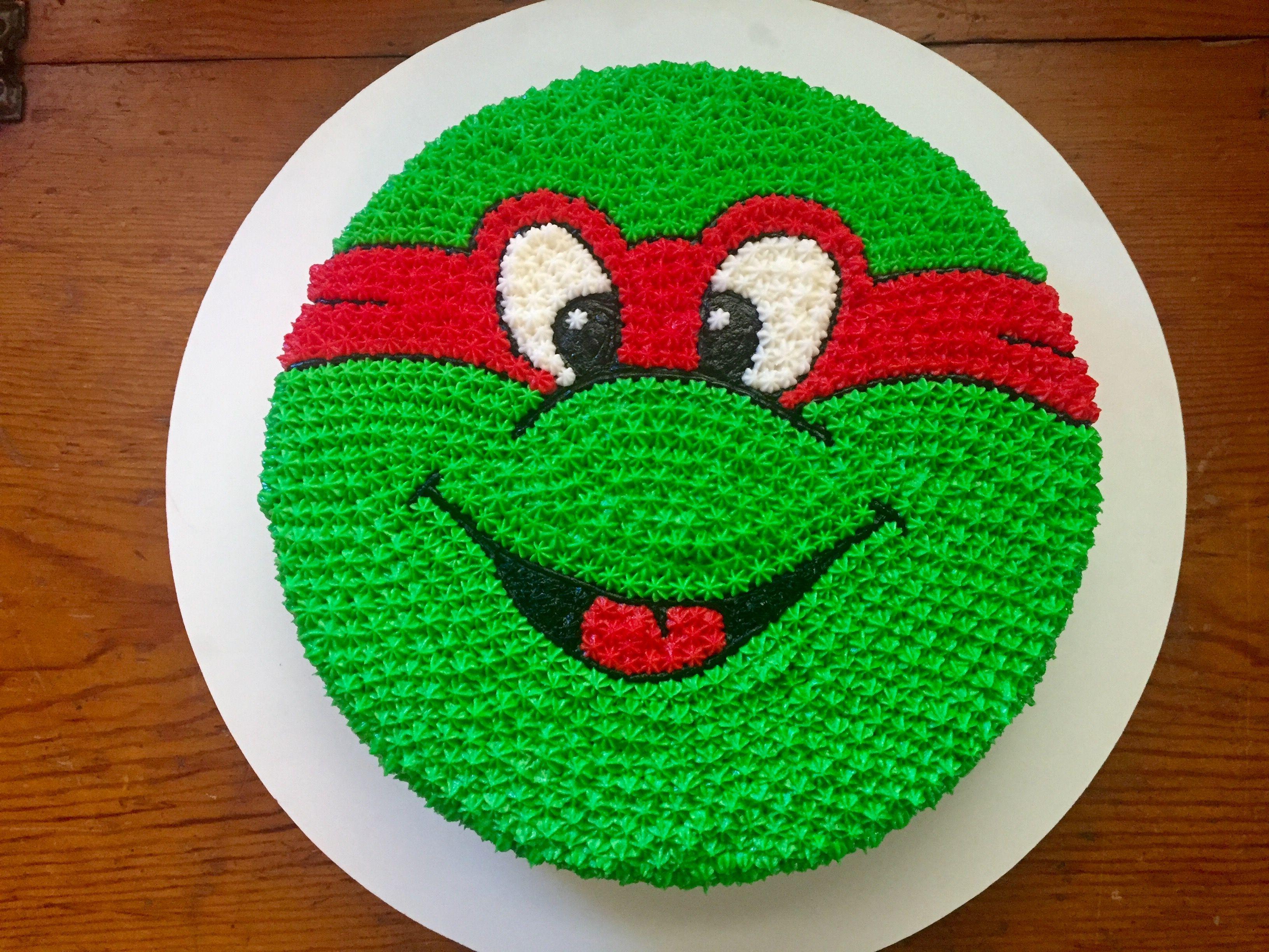 Teenage Mutant Ninja Turtles Buttercream Birthday Cake Red Green J P Bakes Ninja Turtle Cake Buttercream Birthday Cake Cake