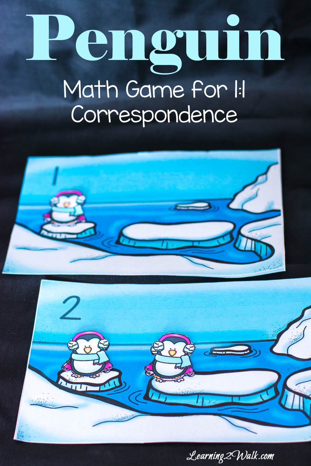 Penguin Math Game for 1:1 Correspondence | Math, Polar animals and ...