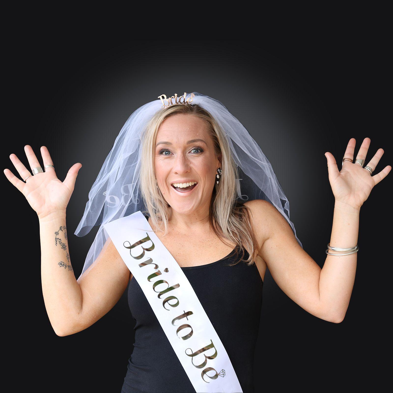 TEAM BRIDE HEN PARTY NIGHT DO BRIDE TO BE SASHES VEIL TIARA
