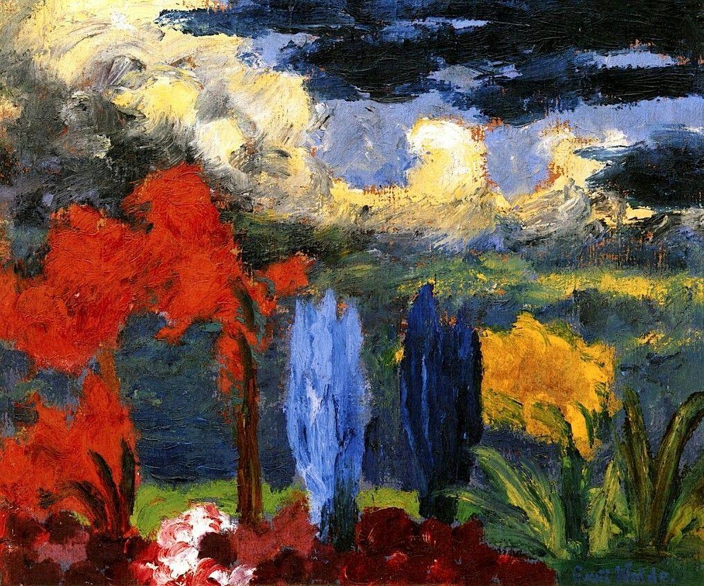 Autumn Glow  Emil Nolde- 1925