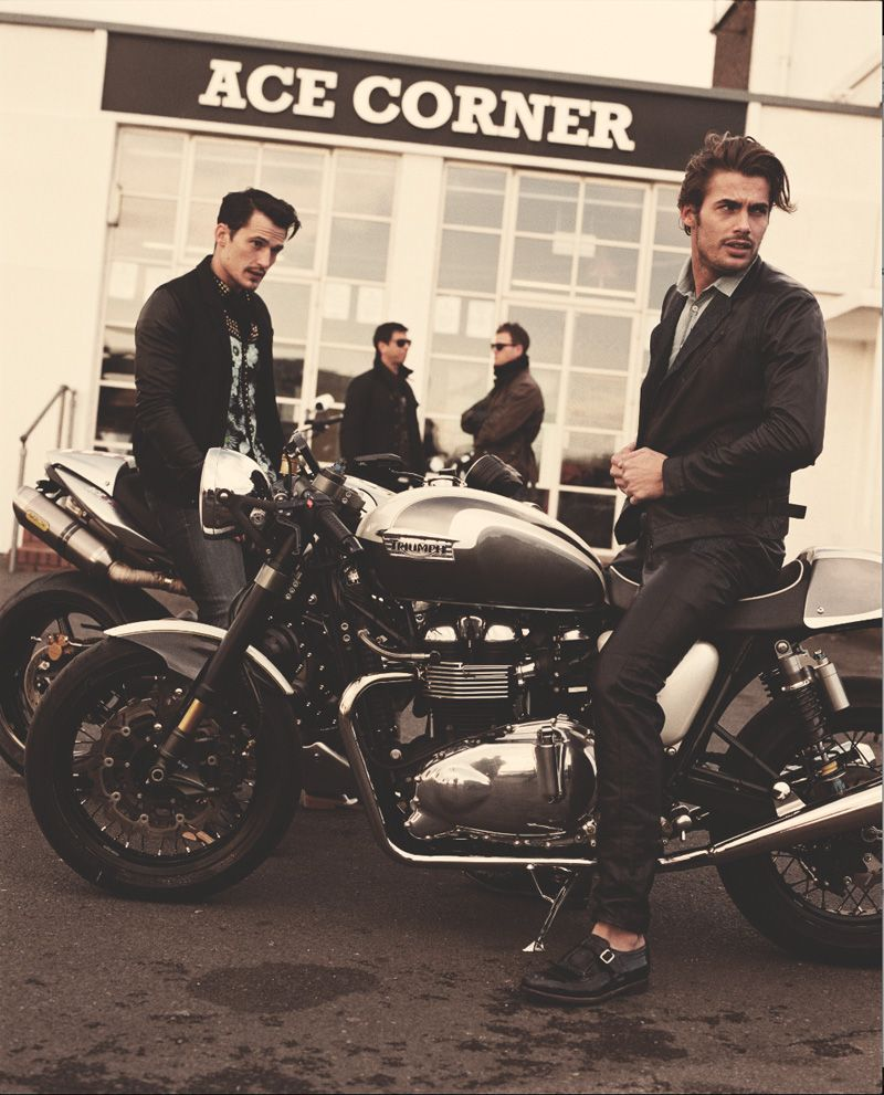 You Can Look Good While Riding Your Motorcycle Guys Triumph Cafe