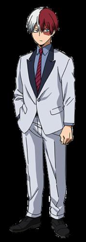 Shouto Todoroki Casual Suit Hero Academia Characters Todoroki Cosplay My Hero Academia Manga