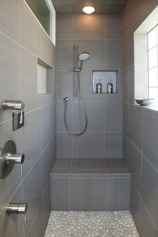 Steam Shower Italian Porcelain Tile And River Rock With Images