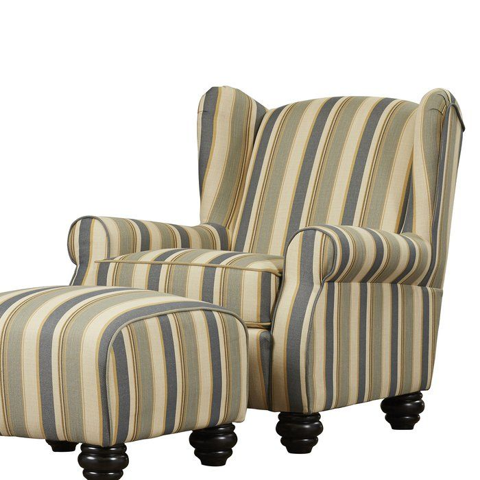 Brougham Wingback Chair And Ottoman Chair Ottoman