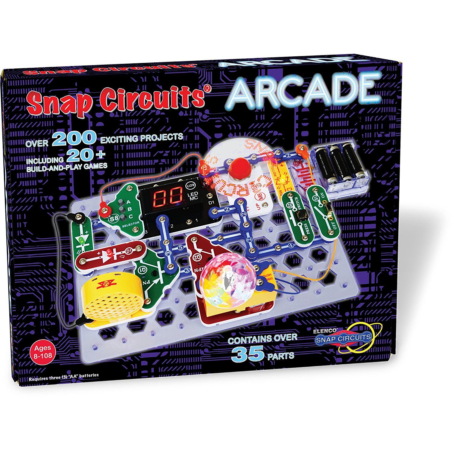amazoncom snap circuits arcade electronics discovery kit toys