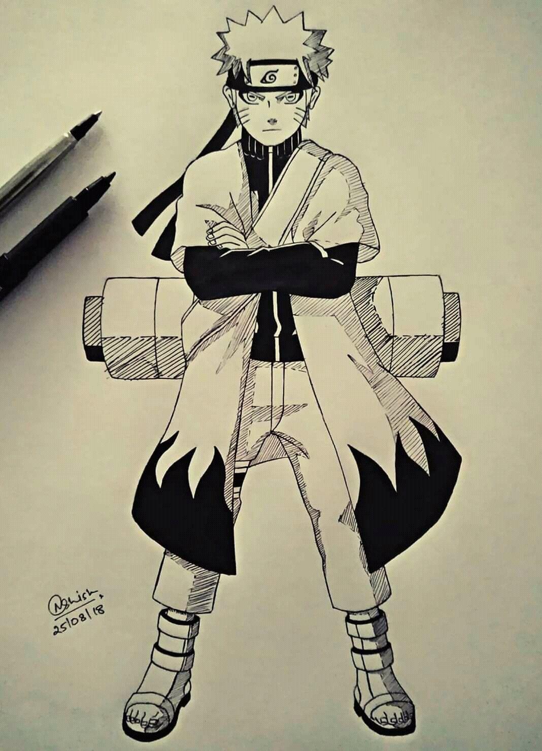 Naruto Sage Mode Manga Style Naruto With Images Naruto Sage