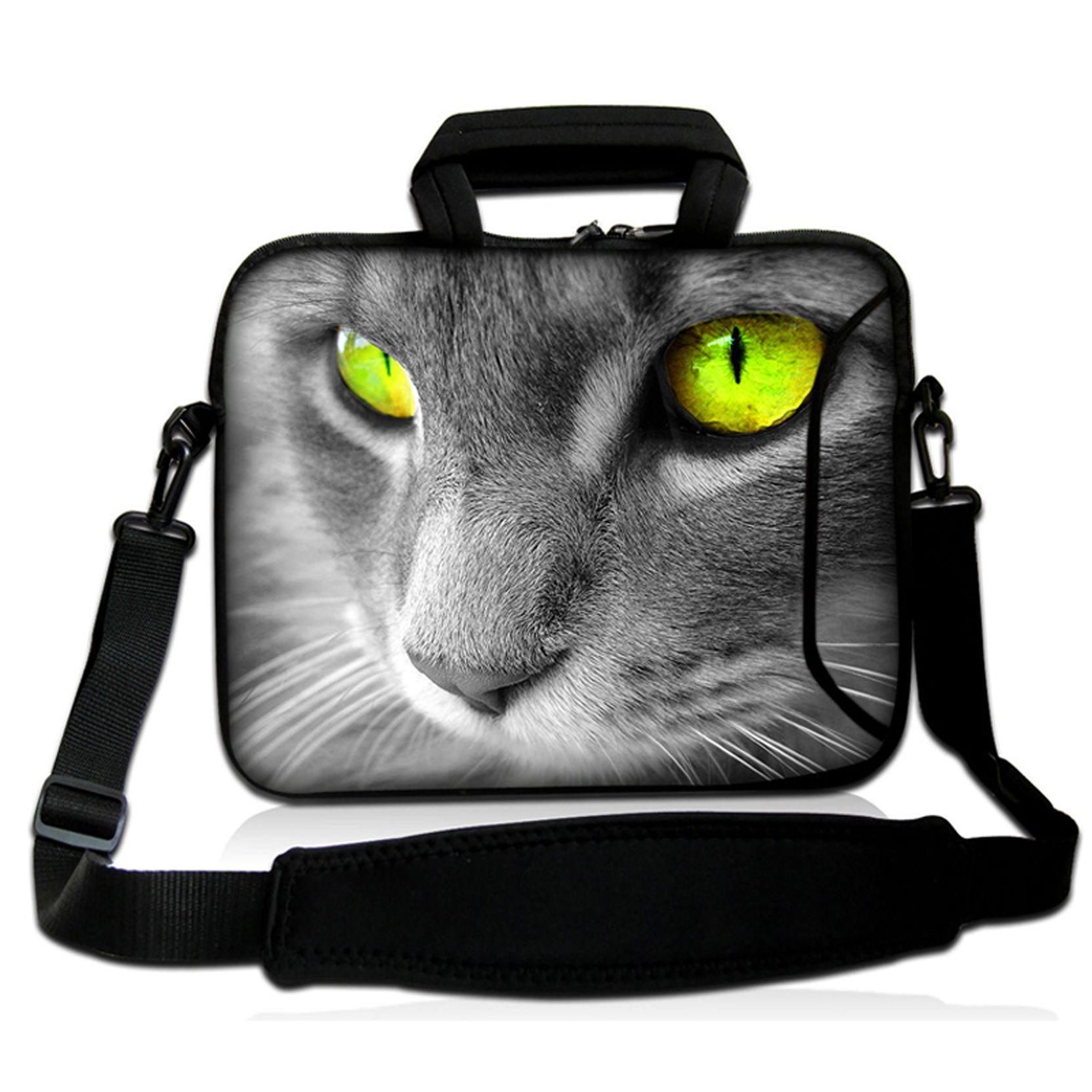 Personalized Cute Cat Face Design Fashion Handbags Laptop