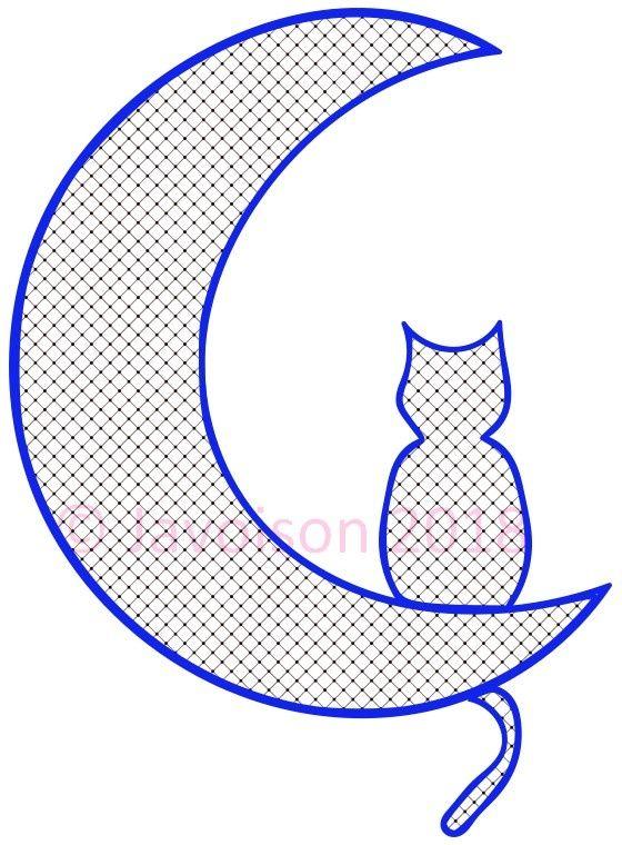 Résultat de recherche d'images pour chats en dentelle torchon #patronsendentelle