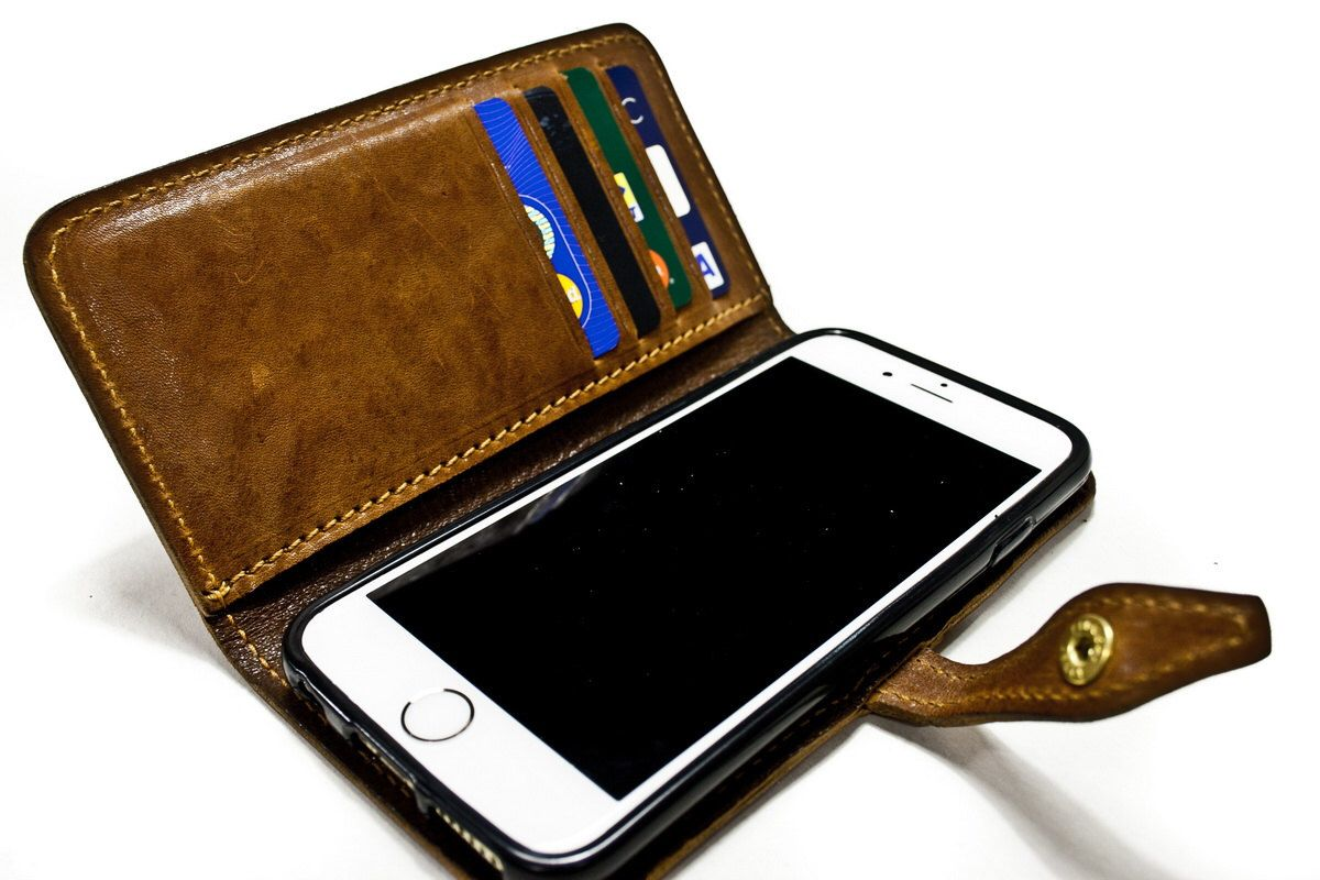 """iPhone 6 Leather Case Washed Leather Aged with credit card holder FLIP Book for 4.7"""" & PLUS 5.5"""" col CHOOSE by TuscanLeather on Etsy https://www.etsy.com/listing/214807926/iphone-6-leather-case-washed-leather"""