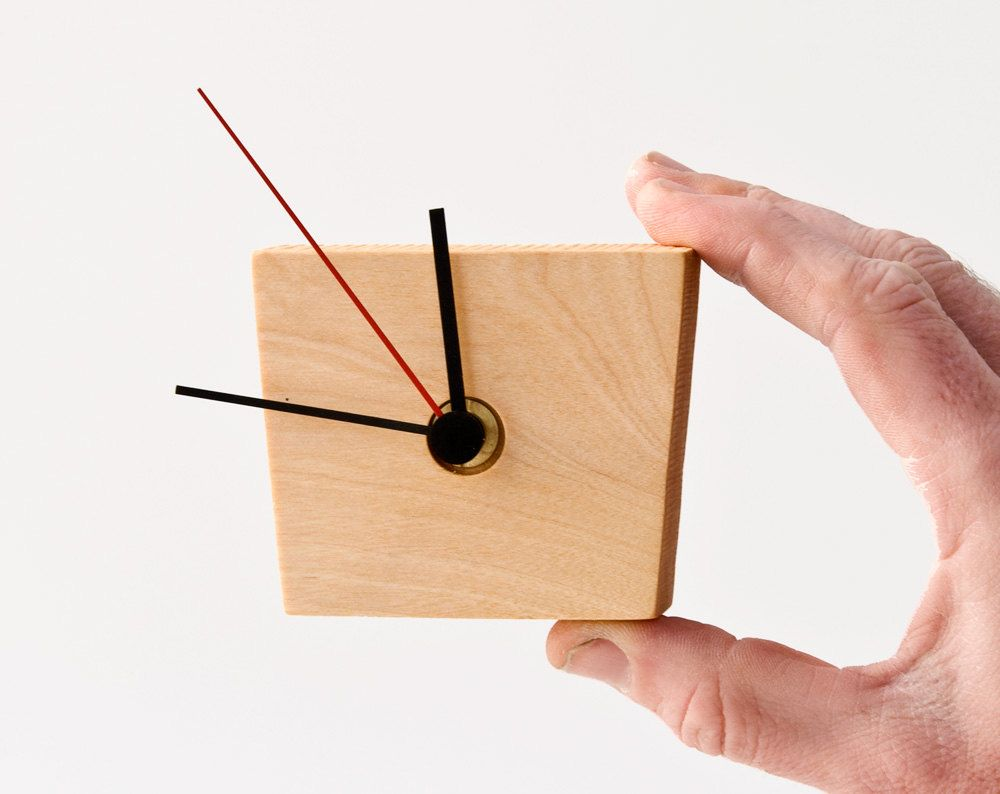 Modern Wall Clock Wood Eiko 76 00 Lessandmore On Etsy