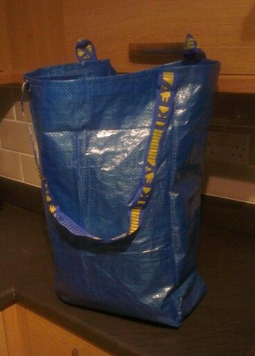 Ikea Frakta Bag Re Made Into A Hanging Laundry Bag With Loops And