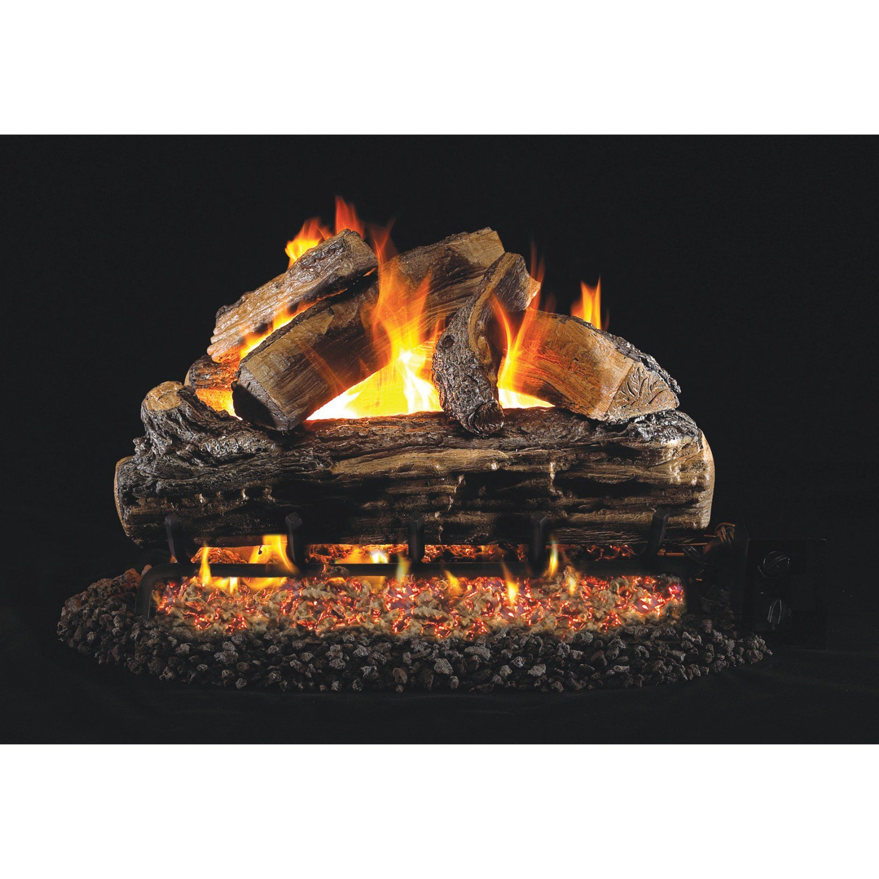 Real Fyre Vented Charred Rugged Split Oak Gas Logs Gas