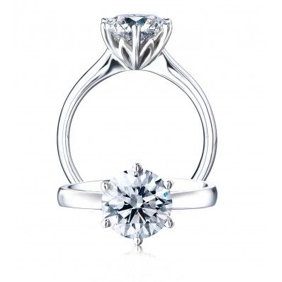 Would Want With Thinner Band Platinum Protea Solitaire Diamond Engagement Diamond Engagement Rings Beautiful Diamond Engagement Ring Designer Engagement Rings