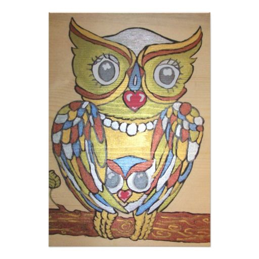 Metallic Owl Print Art Photo