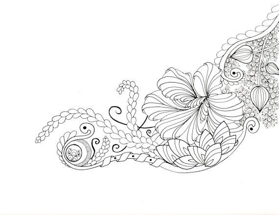 Printable Zendoodle Adult Coloring Page A10 by ...
