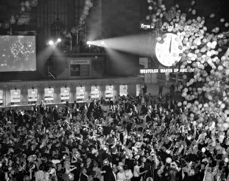 New Year's Eve celebration in Grand Central Station, New