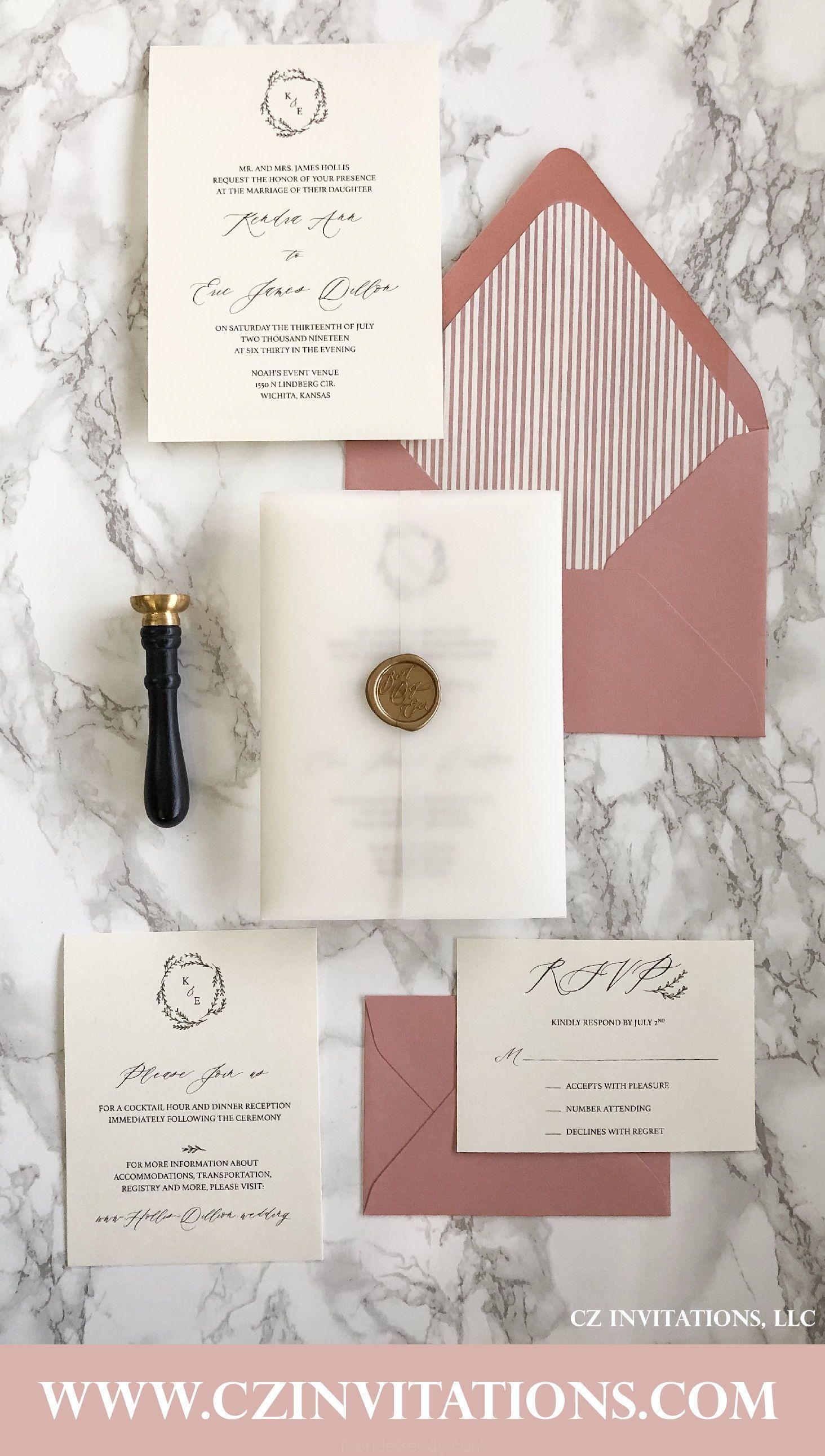 Nouveau personnalisé fait main de Luxe Coupe Laser Rose Mariage Invitation