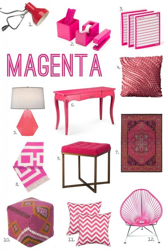 For the Love of Color: Magenta // Falling in love with Pink! Great accessories!