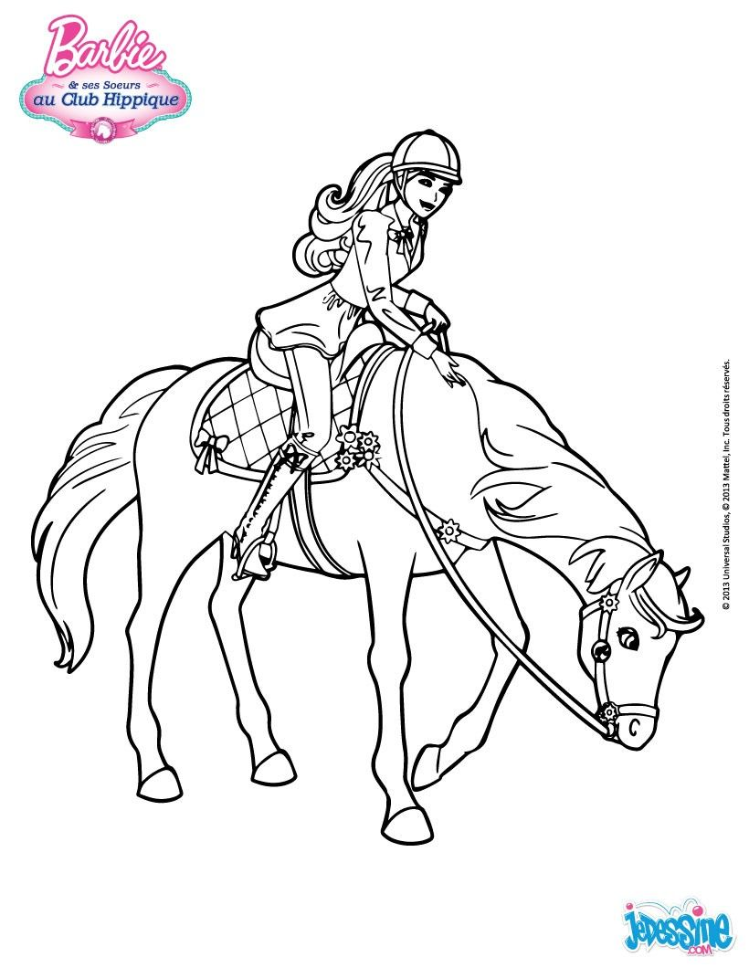 coloriage de barbie qui monte cheval une barbie cavali re colorier pour toutes les filles. Black Bedroom Furniture Sets. Home Design Ideas