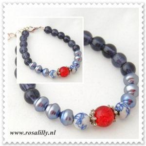 Armband Delfts blauw