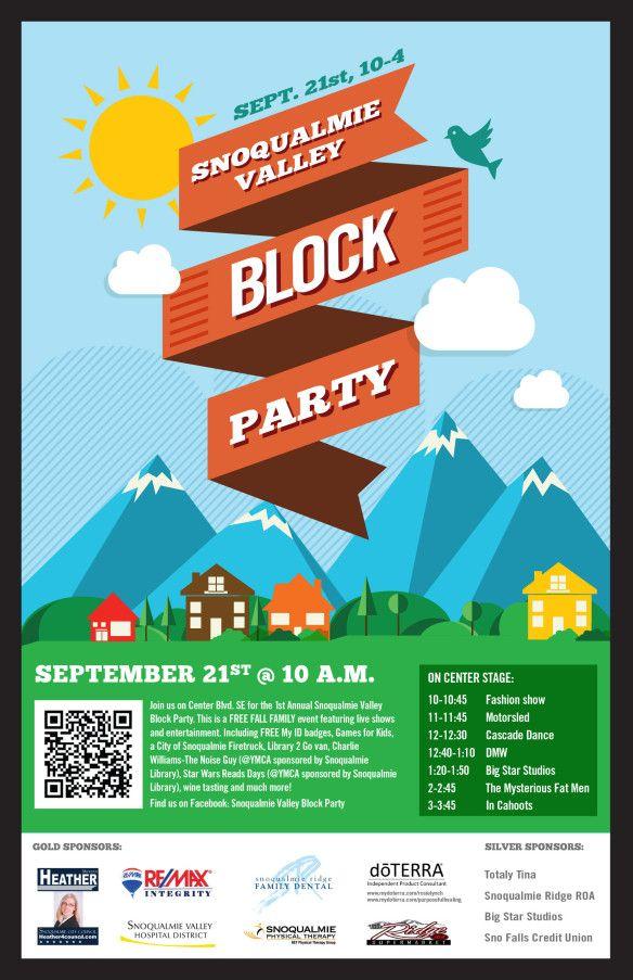 block party flier