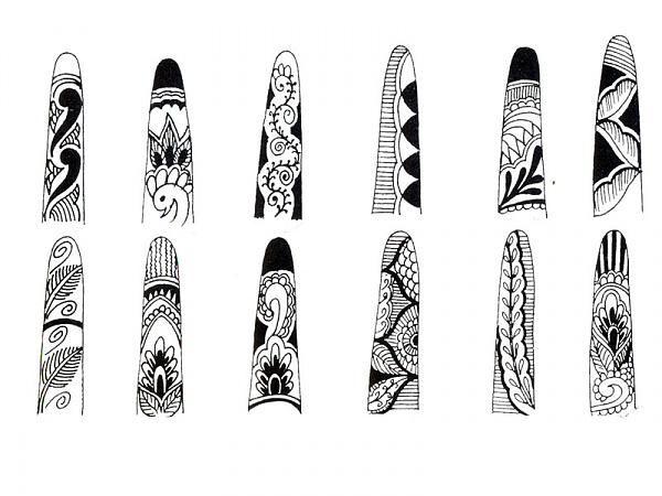 Mehndi Designs For Fingers Step By Step : Mehandi patterns for fingers henna pinterest finger