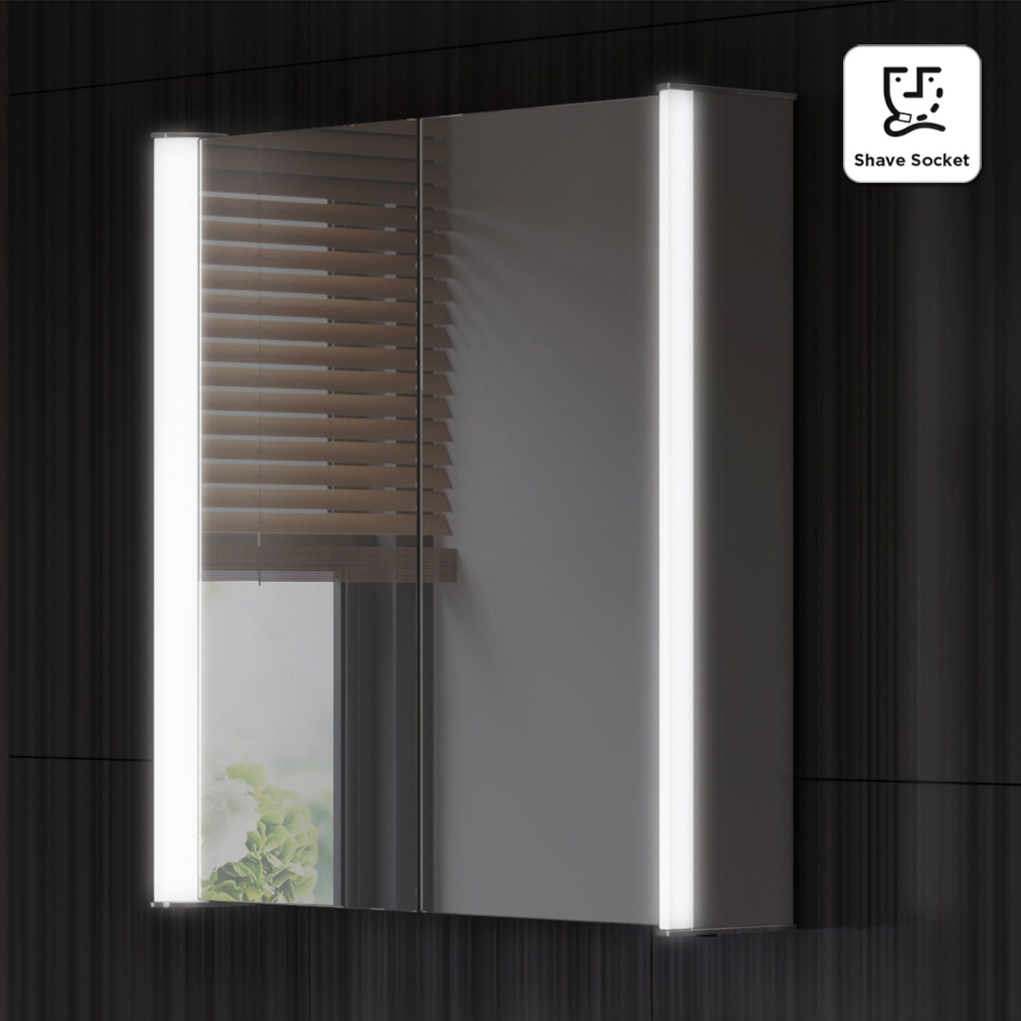600x650mm Bloom Illuminated Led Mirror Cabinet Shaver Socket Soak Com With Images Mirror Cabinets Bathroom Mirror Cabinet Led Mirror Bathroom