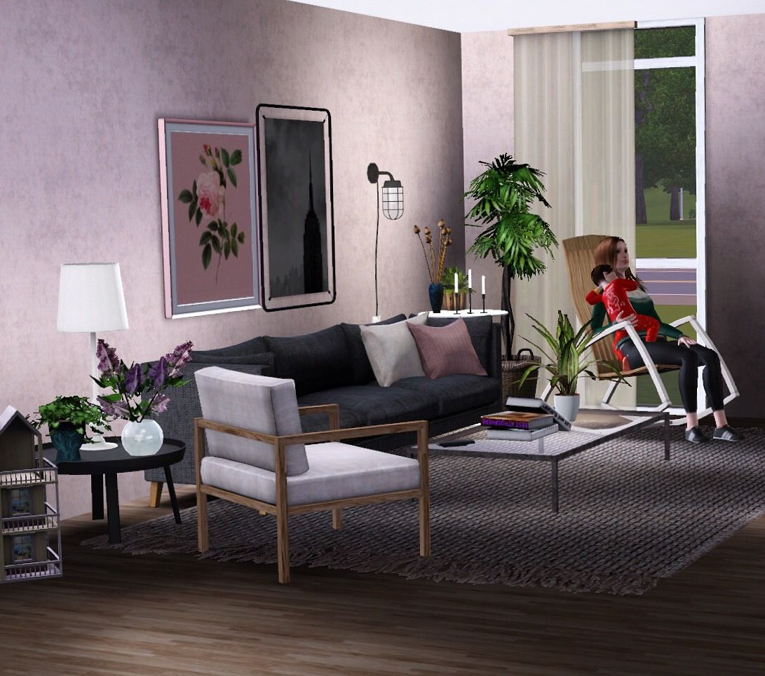The Sims 3 living room.