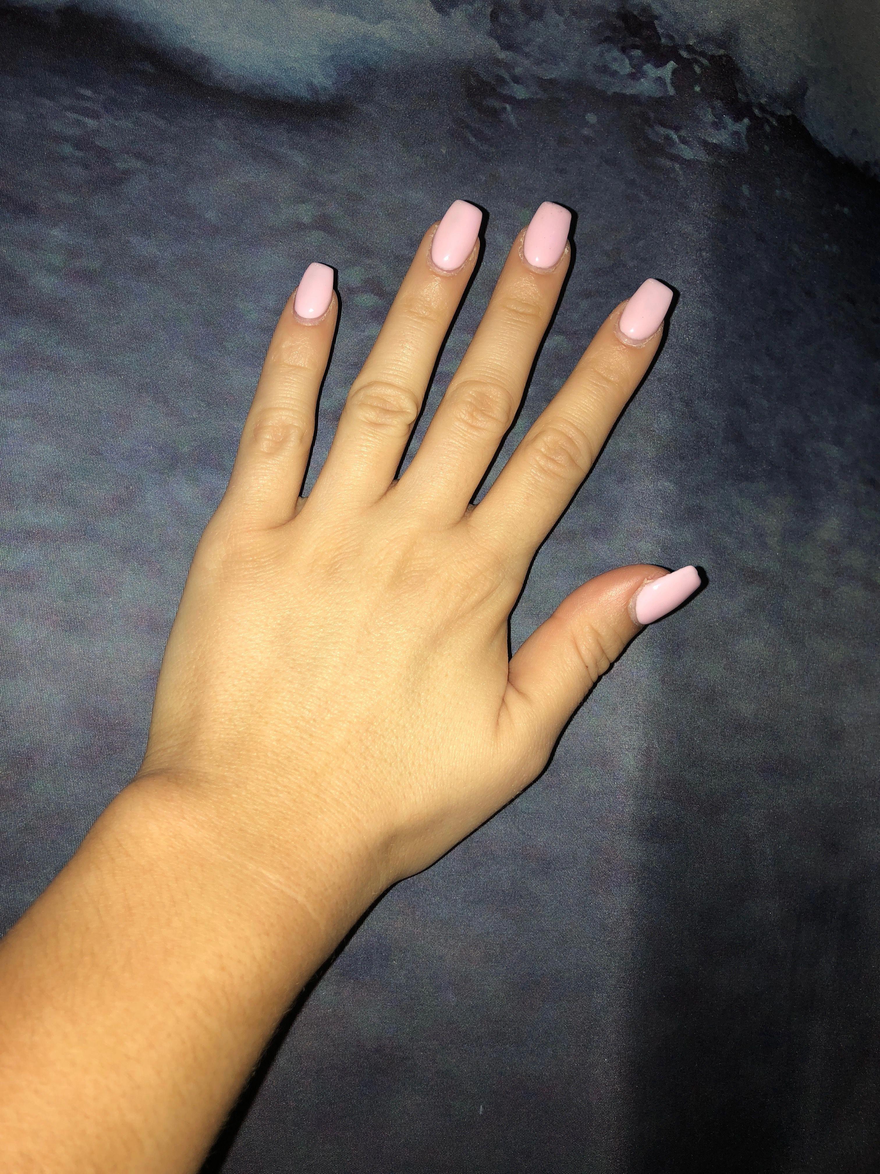 Acrylic Nail Art For Teens Nailart Diyacrylicnails Pink Acrylic Nails Baby Pink Nails Acrylic Baby Pink Nails