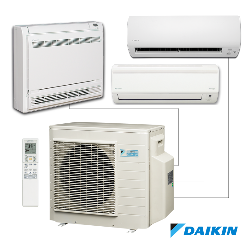 Multi Split System Daikin 3mxs52e External Unit Air Conditioning Installation Air Conditioning Services Ductless Air Conditioner