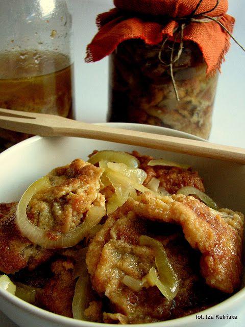 Smaczna Pyza Kanie Smazone Marynowane W Zalewie Octowej Food Stuffed Mushrooms Chicken Wings