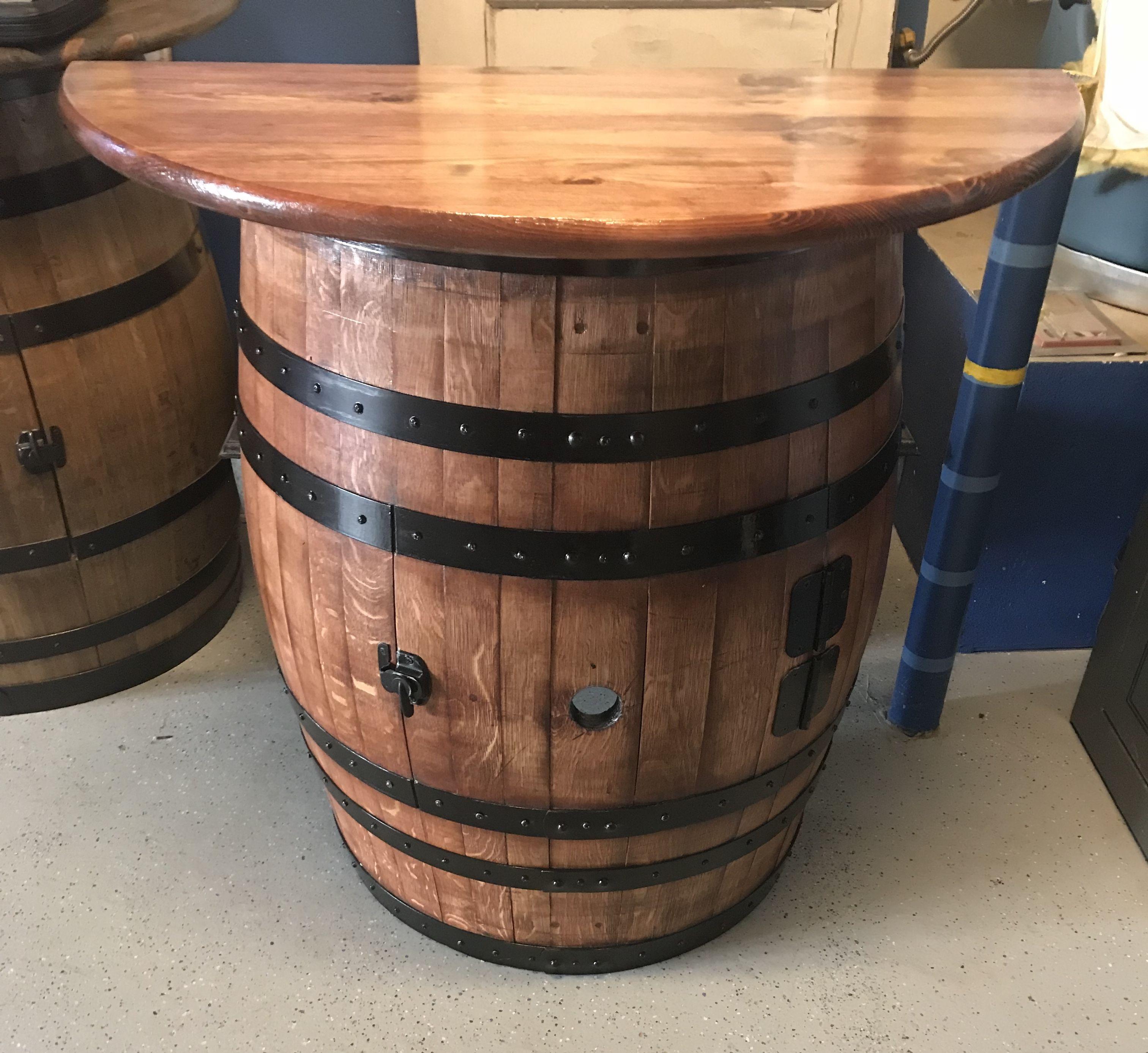 Half Round Wine Barrel Table Whiskey Barrel Table Wine Barrel Table Barrel Table