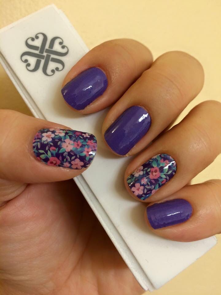 Ditsy Fl And Berry Blue Jamberry Nail Wraps Check Them Out At Maryseto Jamberrynails