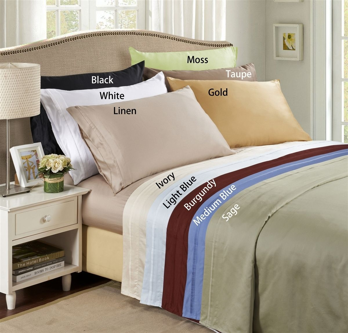 lido collection - 600 thread count egyptian cotton split dual king