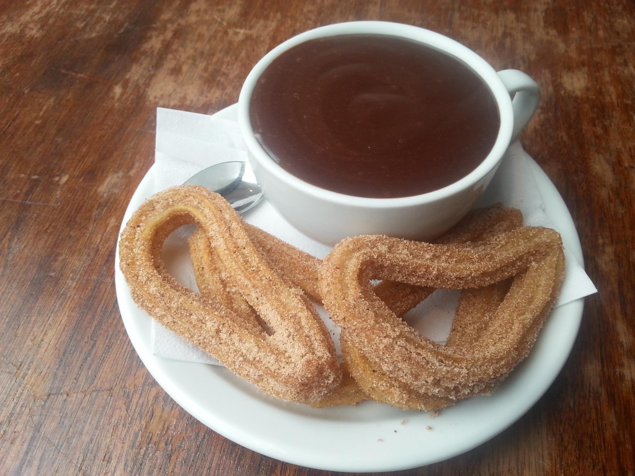 Amazing hot chocolate and churros at Ultracomida, Narberth. #TheCoastalWay