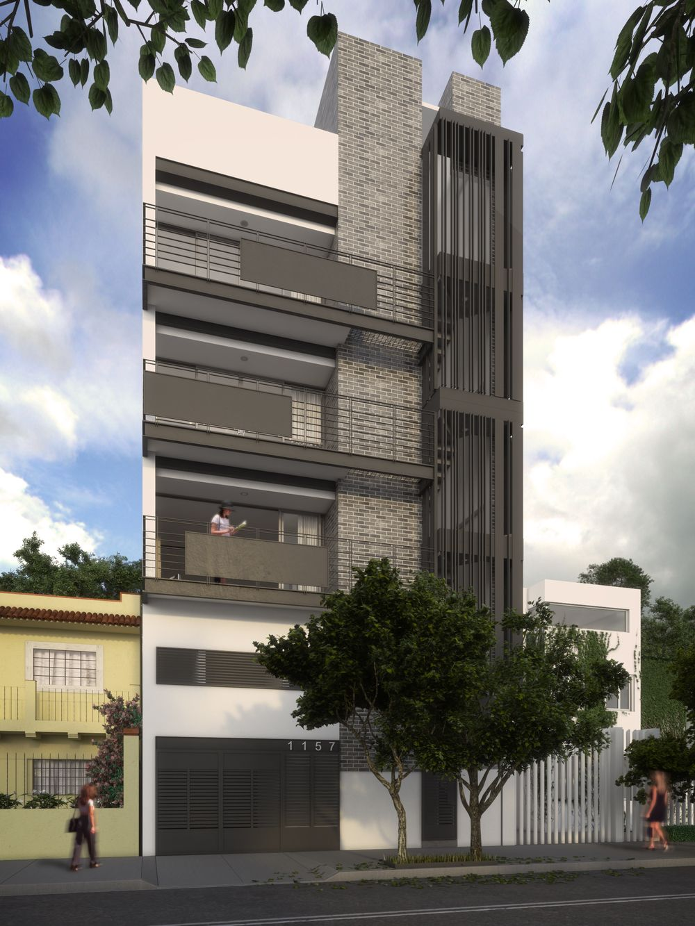 Rr 30x30 amrs fg 1 27 05 houses pinterest for Fachadas de edificios modernos