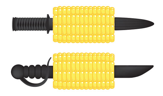 Eat that corn like a Ninja! (IMAGE) #Ninja #Foodie