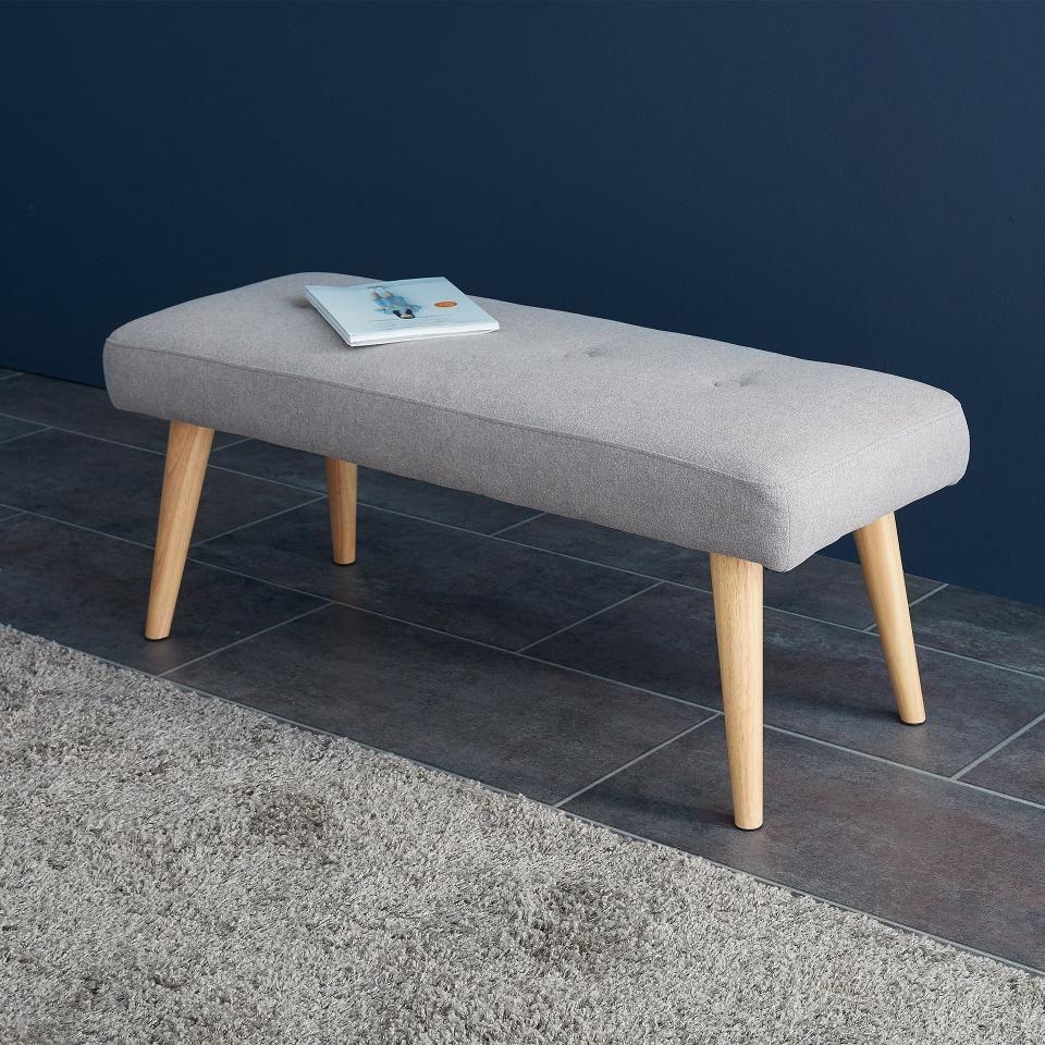 egedal bezaubert mit klaren linien und retro charme die hellgraue sitzbank mit wahrlich. Black Bedroom Furniture Sets. Home Design Ideas