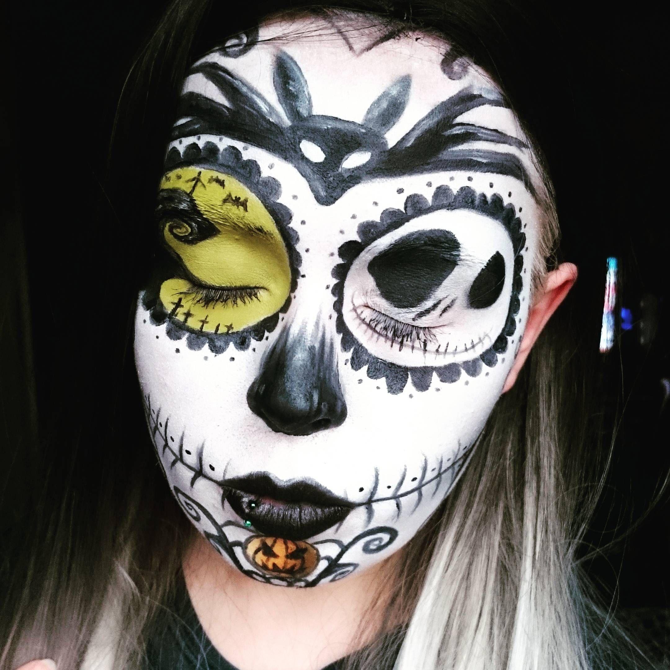 Nightmare before Christmas sugar skull makeup. | Make up | Pinterest ...