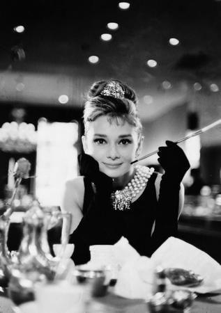 2d40694b0a Audrey Hepburn poster Metal Sign Wall Art 8in x 12in Black and White ...