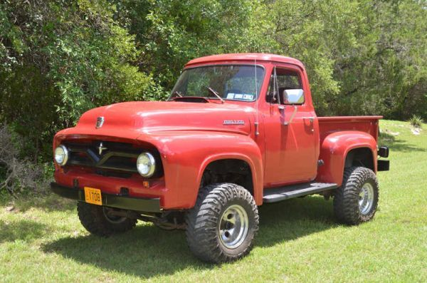 1955 Ford F100 4x4 Would Love To Own It Classic Ford Trucks