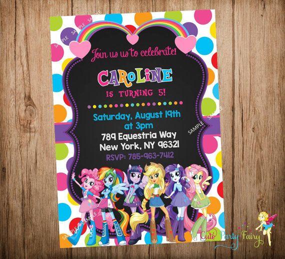 Equestria Girls Birthday Invitation Equestria By
