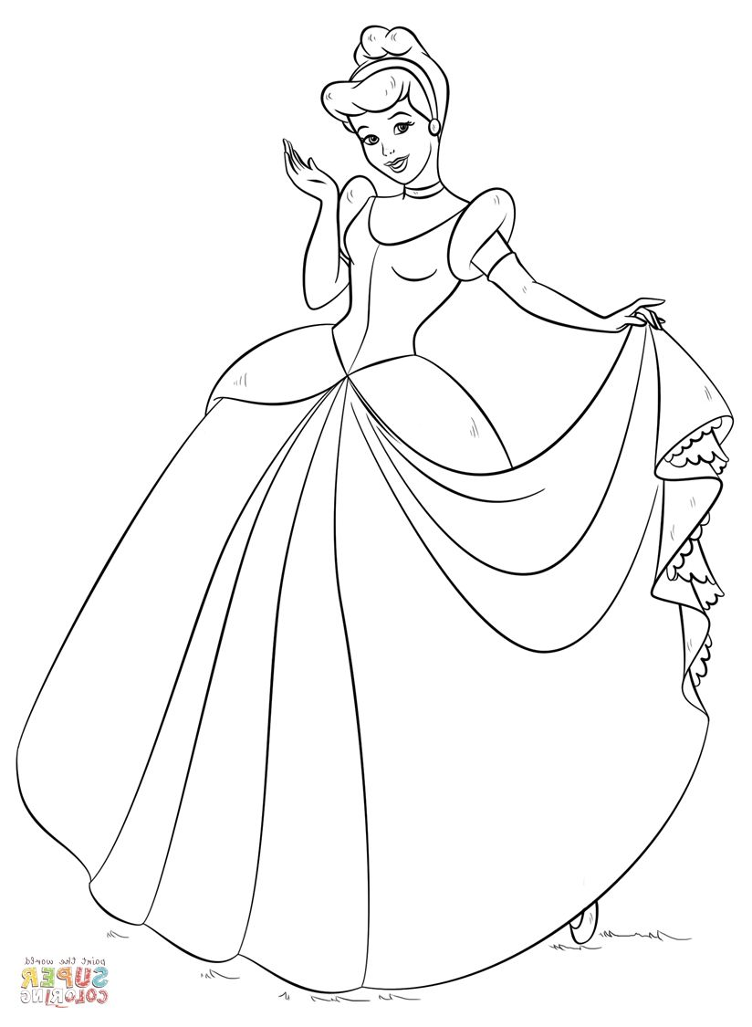 Cinderella Coloring Pages Cinderella Coloring Pages Princess