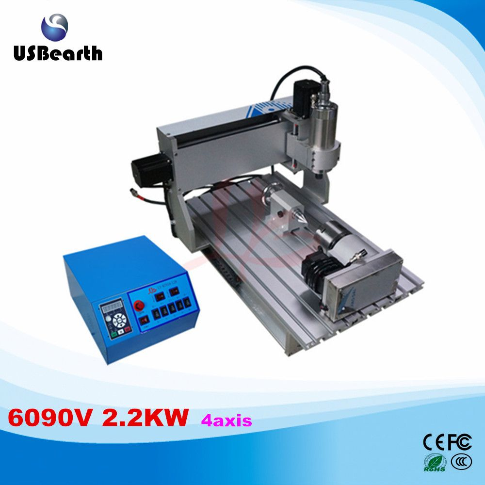 Ly Cnc 6090v 22kw 4 Axis Mini Milling Machine Vfd Control Box Inverter Welding Pcb Board Cutting Circuit Industry Lathe